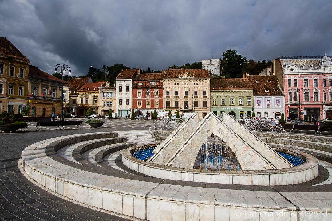 Sfatului (Council) Square Old Town Brasov Romania-3-2