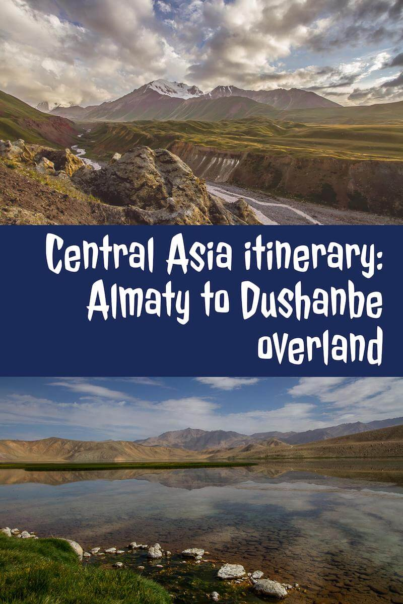 Central Asia Almaty to Dushanbe overland
