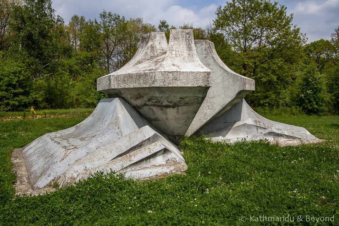 Crystal Flower Monument Sumarice Memorial Park Kragujevac Serbia