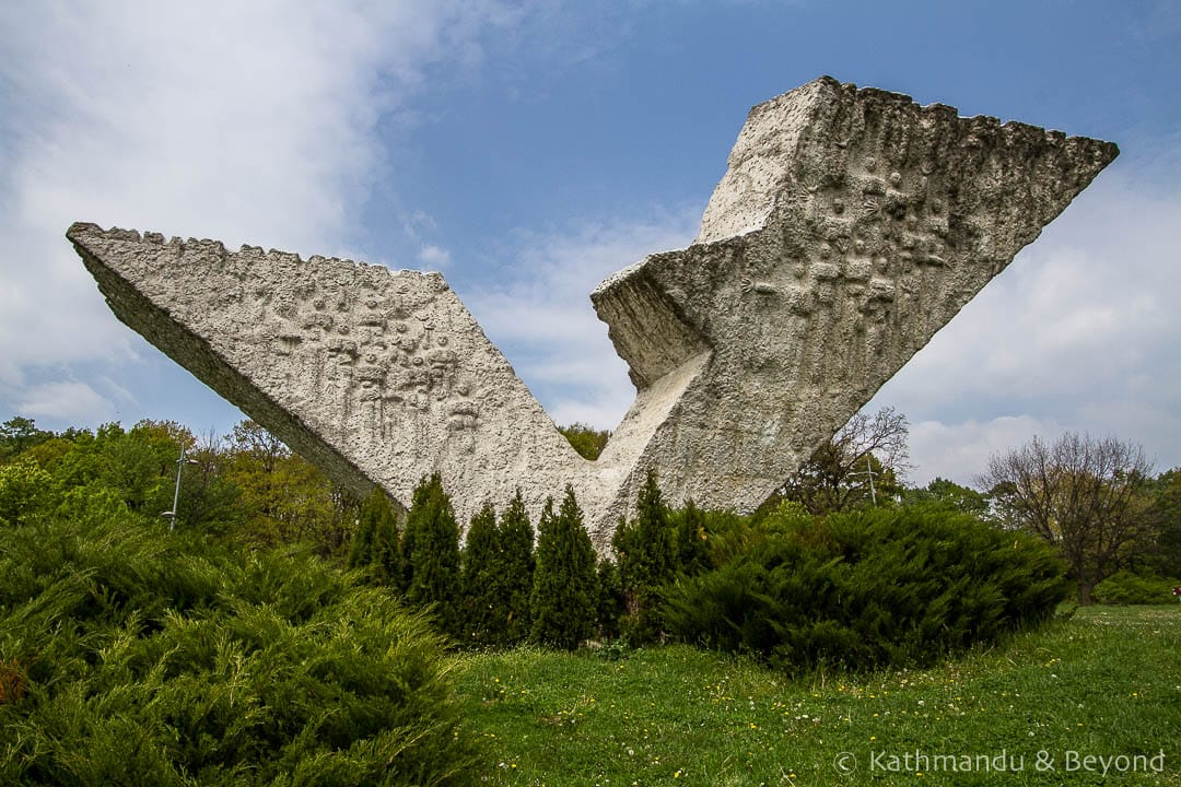 Monument to Executed Students and Professors (Interrupted Flight) Sumarice Memorial Park Kragujevac Serbia-4