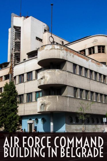 The Air Force Command Building in Belgrade