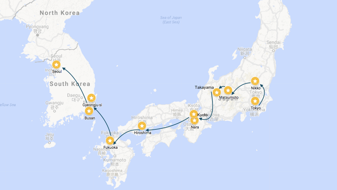 Suggested Itinerary: Northeast Asia from Taipei to Seoul