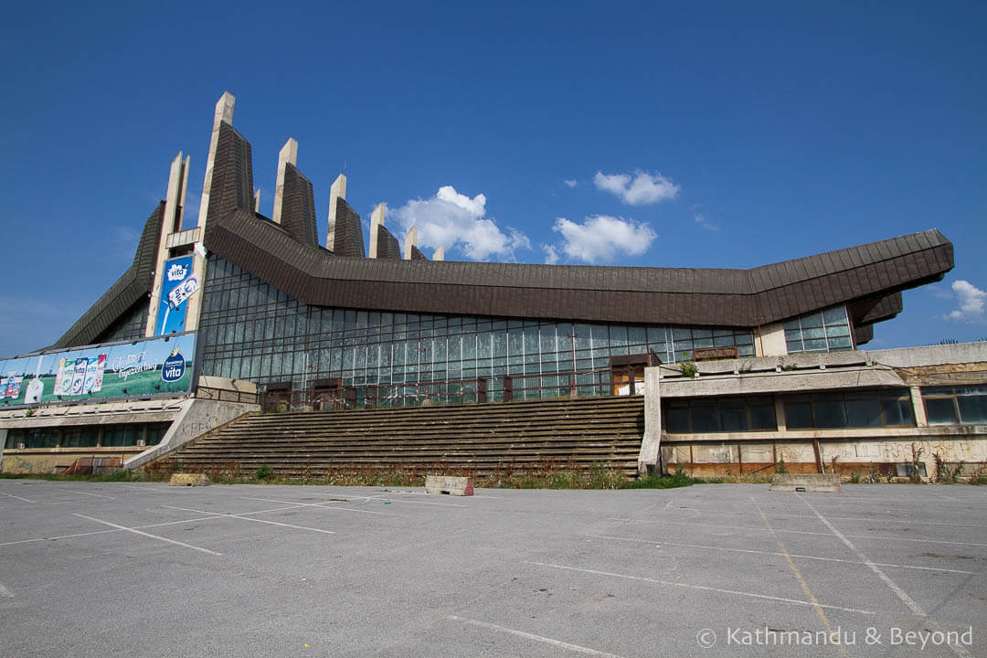 The Palace of Youth and Sports (formerly Boro and Ramiz) in Pristina, Kosovo | Brutalist | Communist architecture |former Yugoslavia