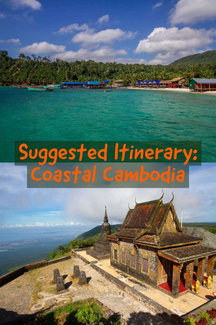 Coastal Cambodia: A suggested Cambodia itinerary for independent travellers to South East Asia featuring beaches, tropical islands, fishing villages and colonial architecture.  #travel #southeastasia #backpacking #Cambodia #beachesandislands #independenttravel