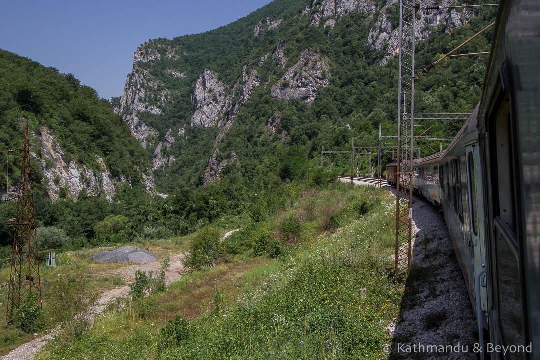 Bar to Belgrade train (Balkan Express) Montenegro-14