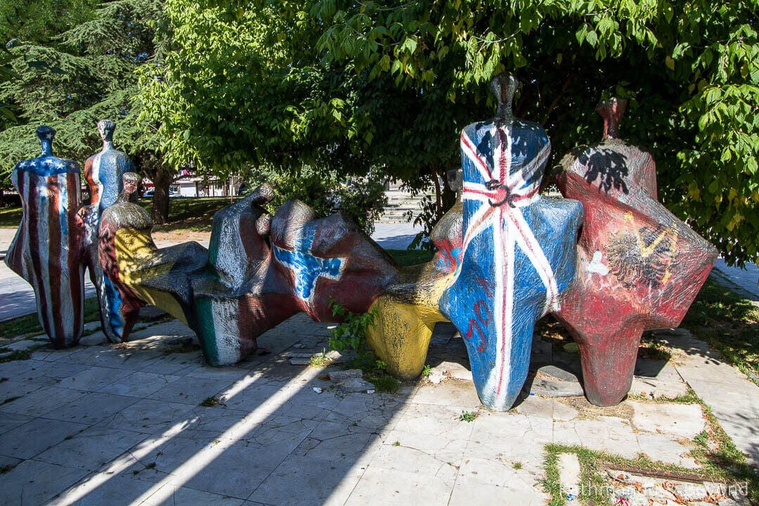 Street Art: Monument to Brotherhood and Unity Pristina Kosovo