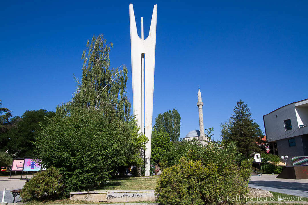 Spomenik: Monument to Brotherhood and Unity Pristina Kosovo