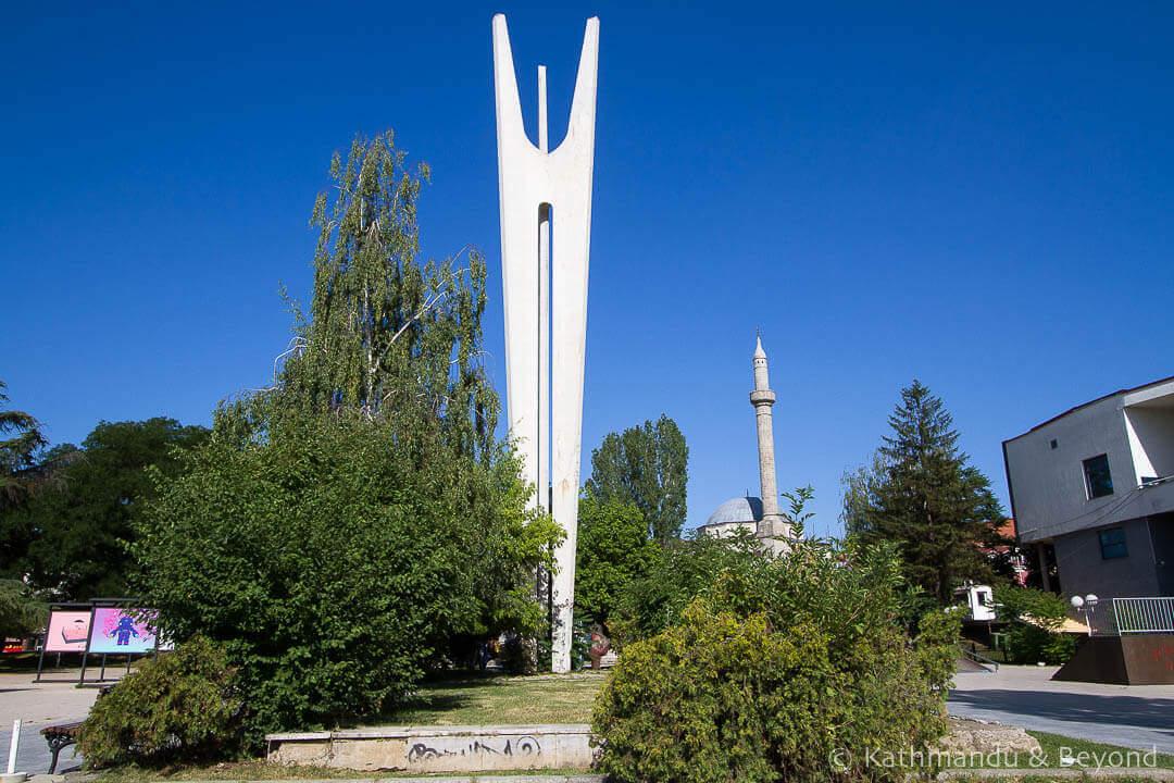 Spomenik: Monument to Brotherhood and Unity Pristina Kosovo