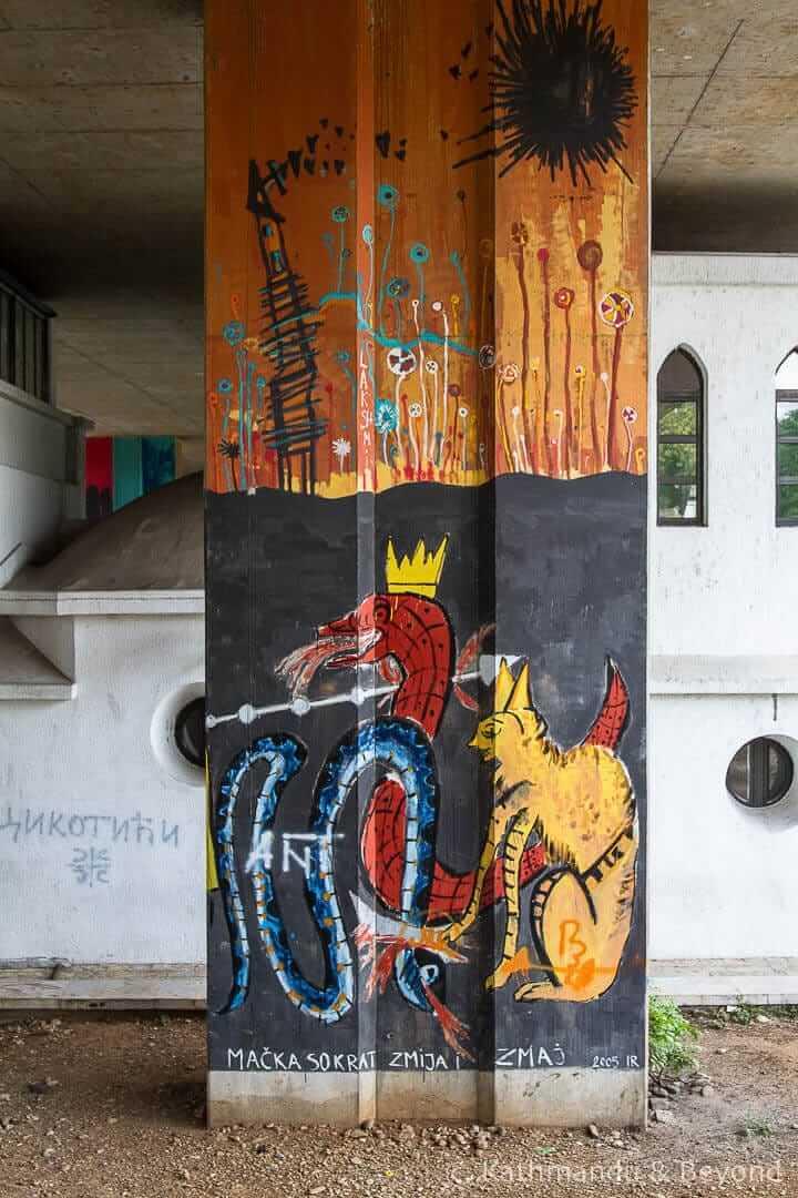 Knjižara Karver, Street Art in Podgorica, Montenegro