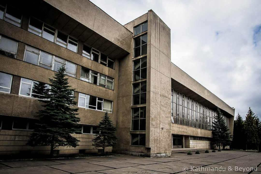 Lviv National University Sports Complex (formerly The National Ivano Franko University Sports Complex) in Lviv, Ukraine | Brutalist | Soviet architecture | former USSR