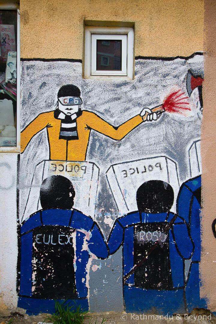 Street Art in Mitrovica Kosovo