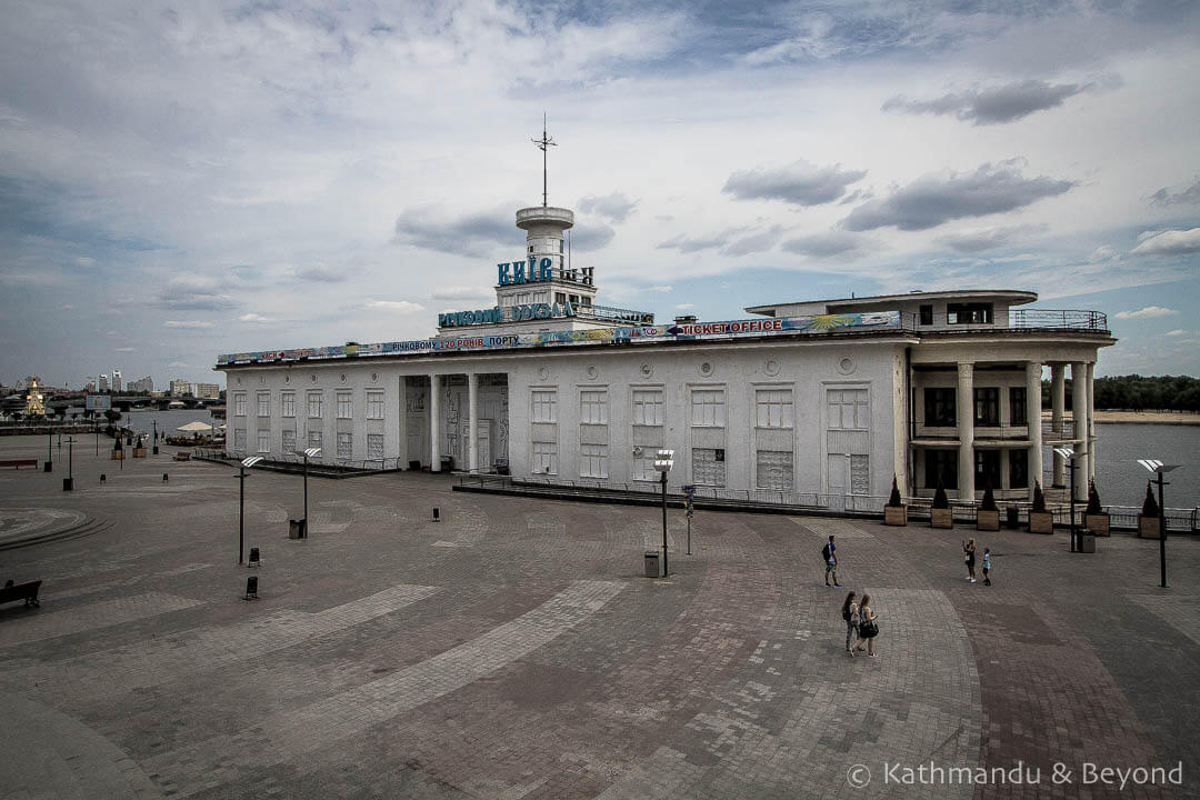 Kiev River Port in Kiev, Ukraine | Stalinist Empire style | Soviet architecture | former USSR