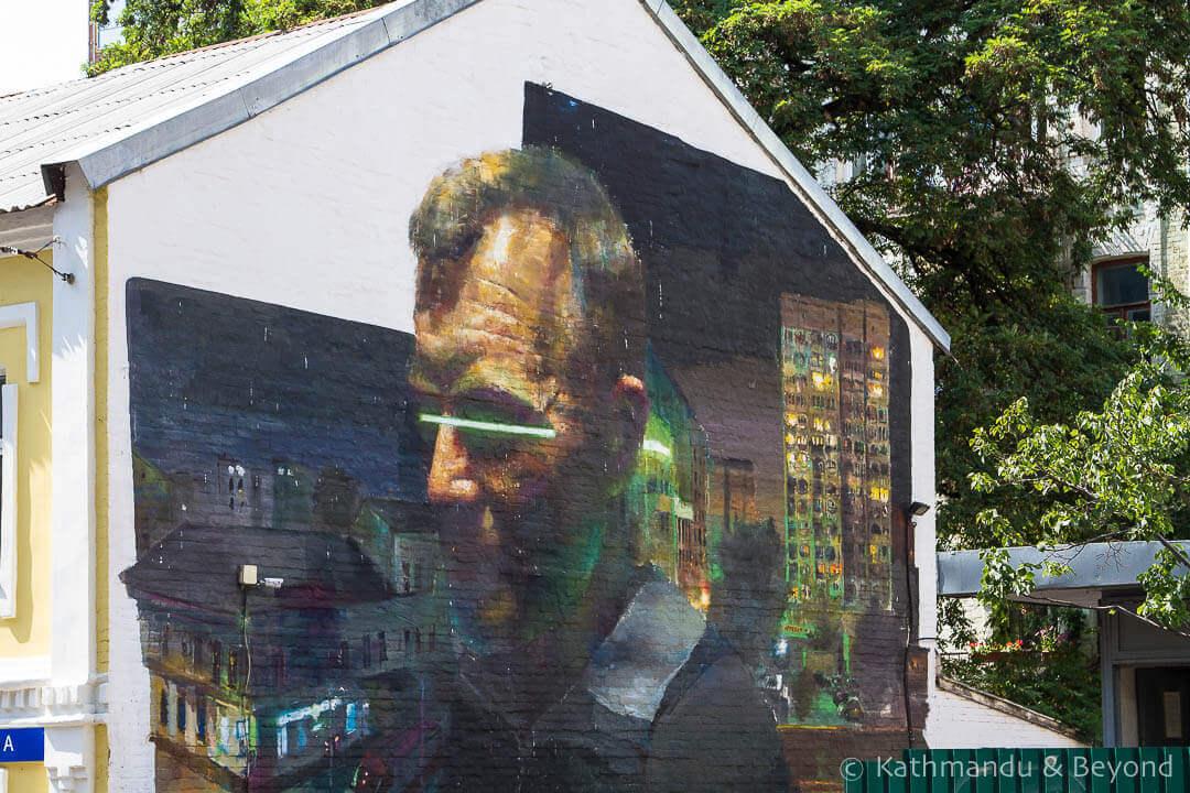 City Man/City Lights | Street Art in Kiev Ukraine-10-2