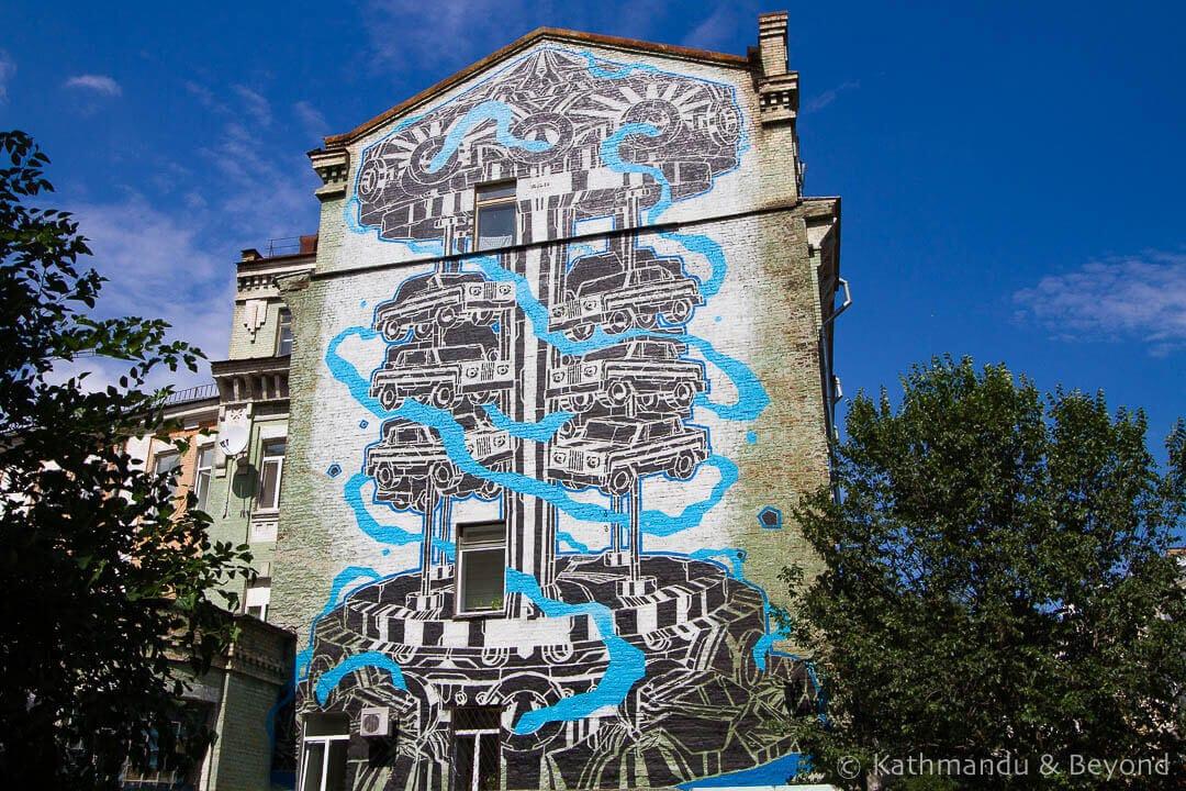 Car Carousel | Street Art in Kiev Ukraine-12-4