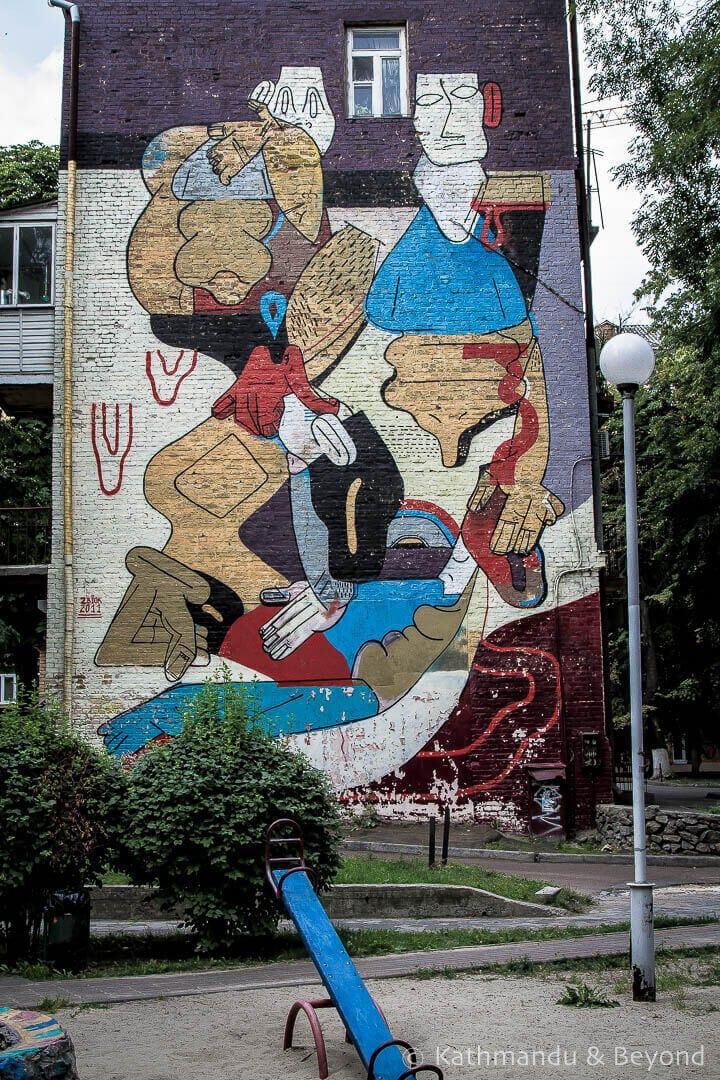 People Jumble | Street Art in Kiev Ukraine-12
