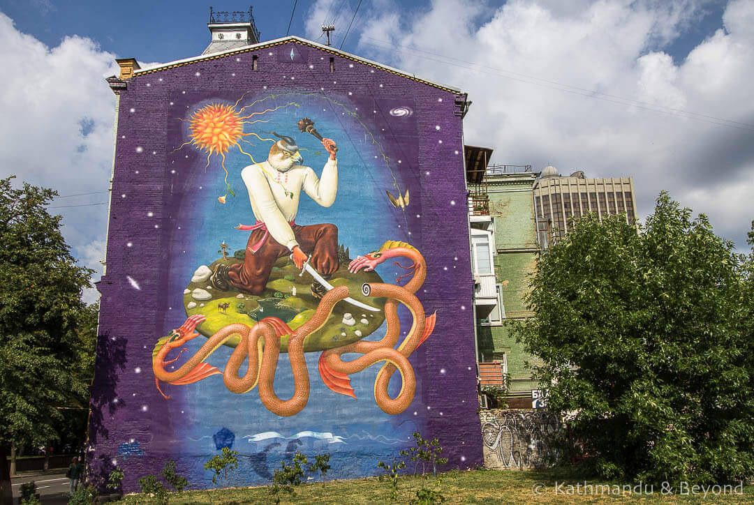 Ukrainian St. George | Street Art in Kiev Ukraine-16