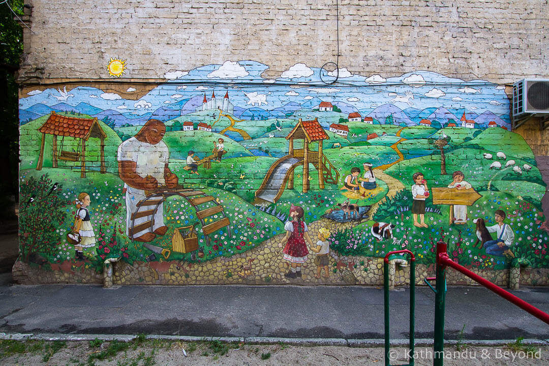 Rural Scene | Street Art in Kiev Ukraine-3