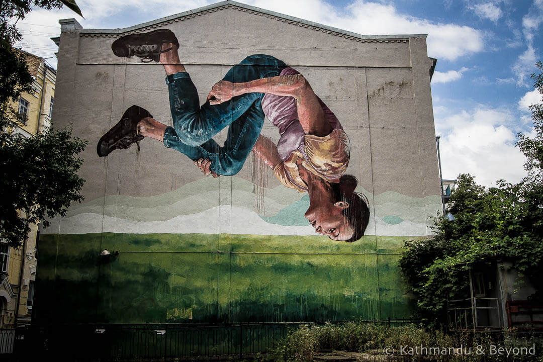 Gymnast | Street Art in Kiev Ukraine-6