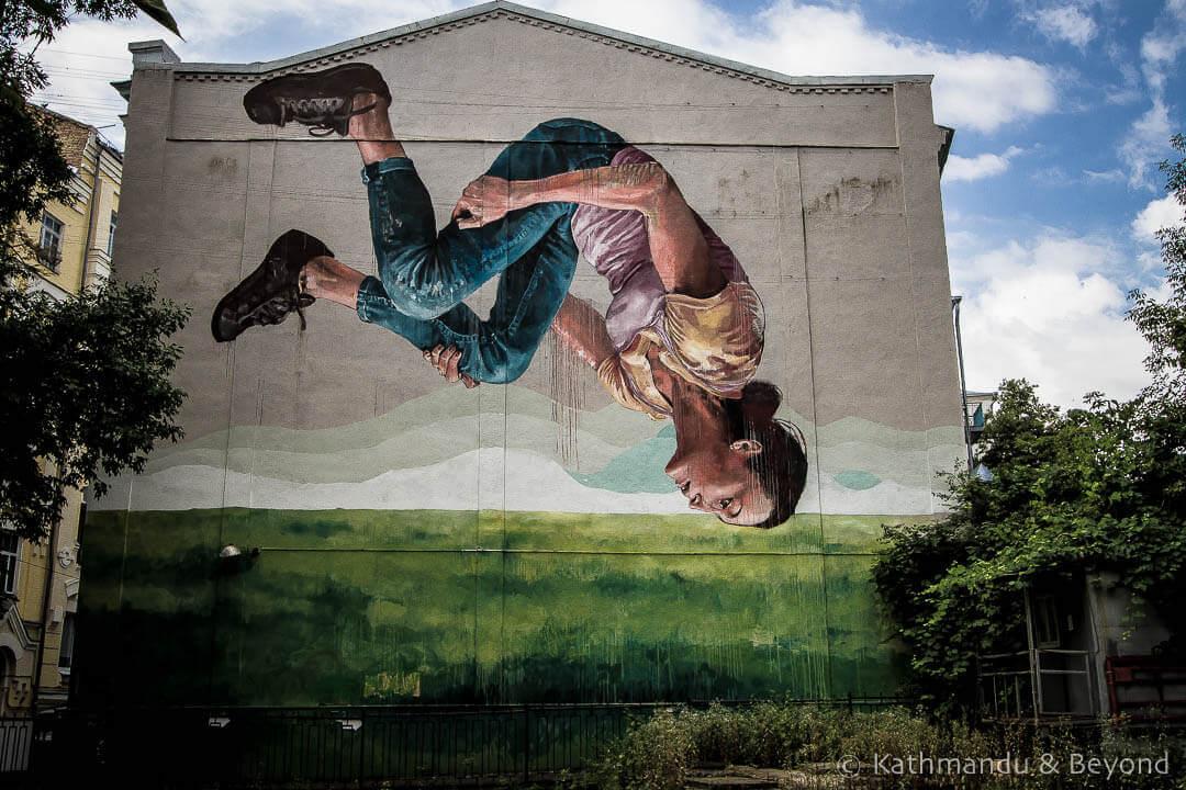 Gymnast | Street Art in Kiev Ukraine-6