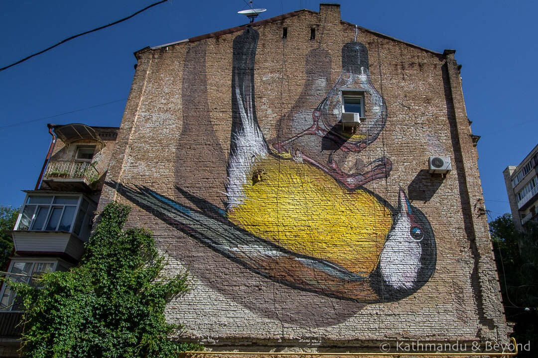 Blue Tit on a Lightbulb (Freedom) | Street Art in Kiev Ukraine-7-3