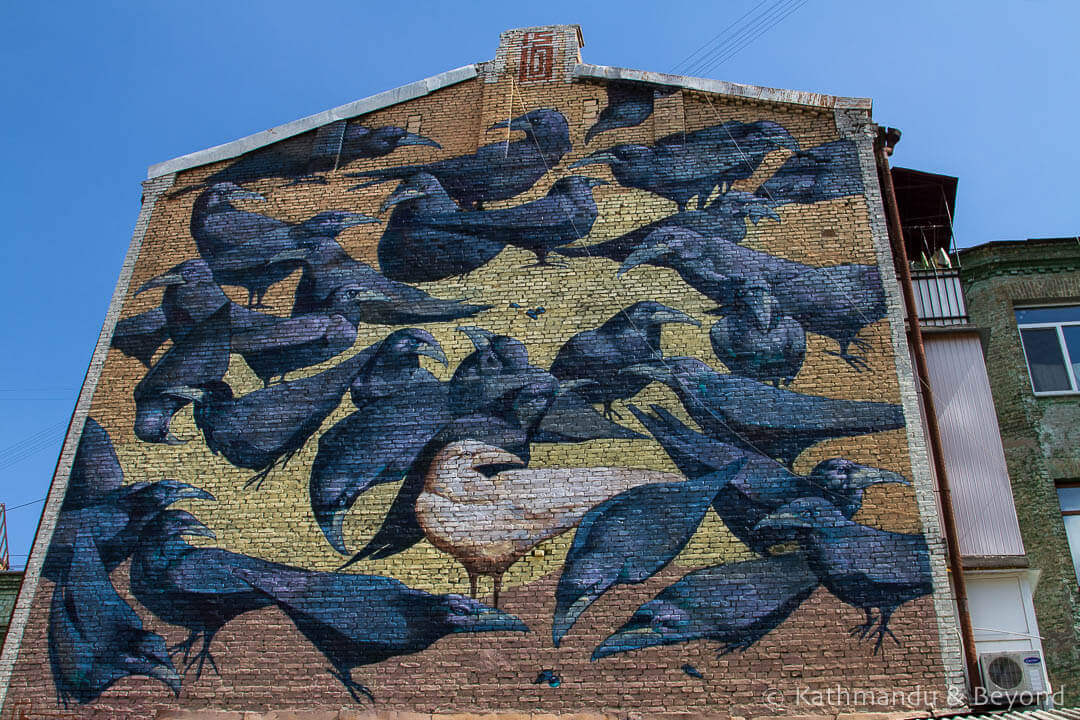 Crows (Herald of Life) | Street Art in Kiev Ukraine-9-2