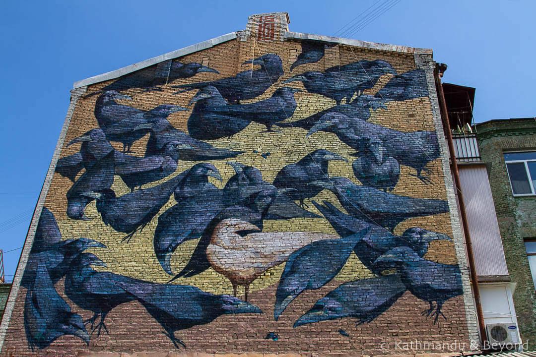 Crows (Herald of Life) | Street Art in Kiev Ukraine-9-2