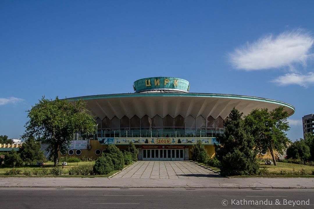 Kyrgyz State Circus in Bishkek, Kyrgyzstan | Modernist, Soviet architecture | former USSR