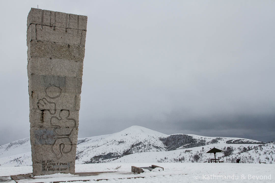 Monument to the Executed Partisans of Zlatibor (Monument on Šumatno Hill) in Zlatibor, Serbia | Spomenik | Socialist memorial | former Yugoslavia