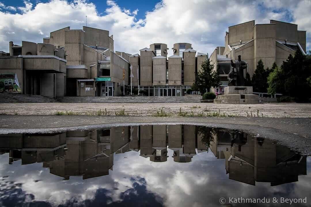 Saints Cyril and Methodius University of Skopje in Skopje, Macedonia | Brutalist | Communist architecture | former Yugoslavia