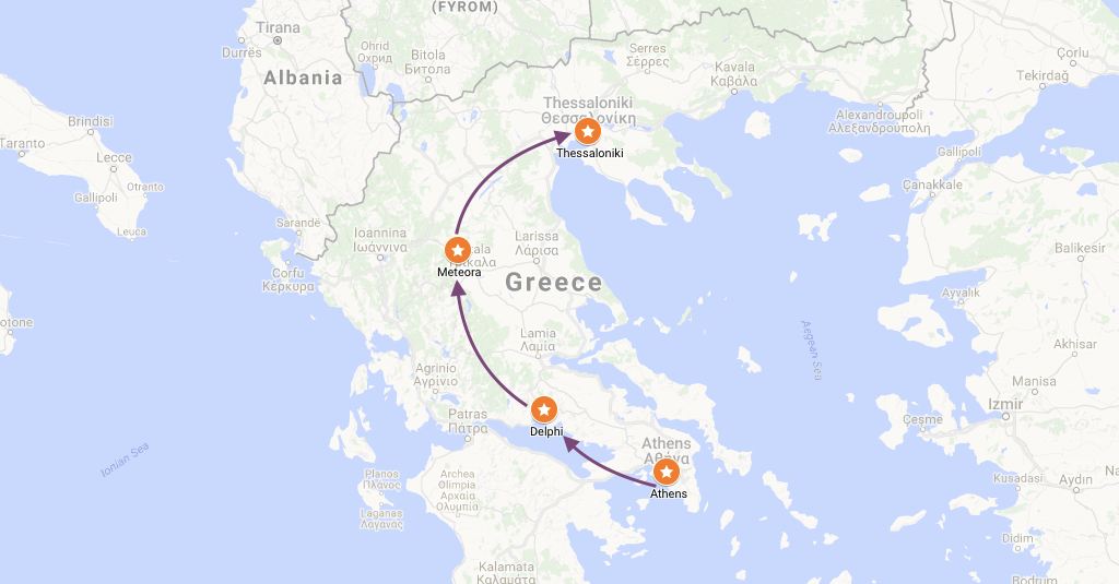 Suggested Itinerary To Greece From Athens To Thessaloniki