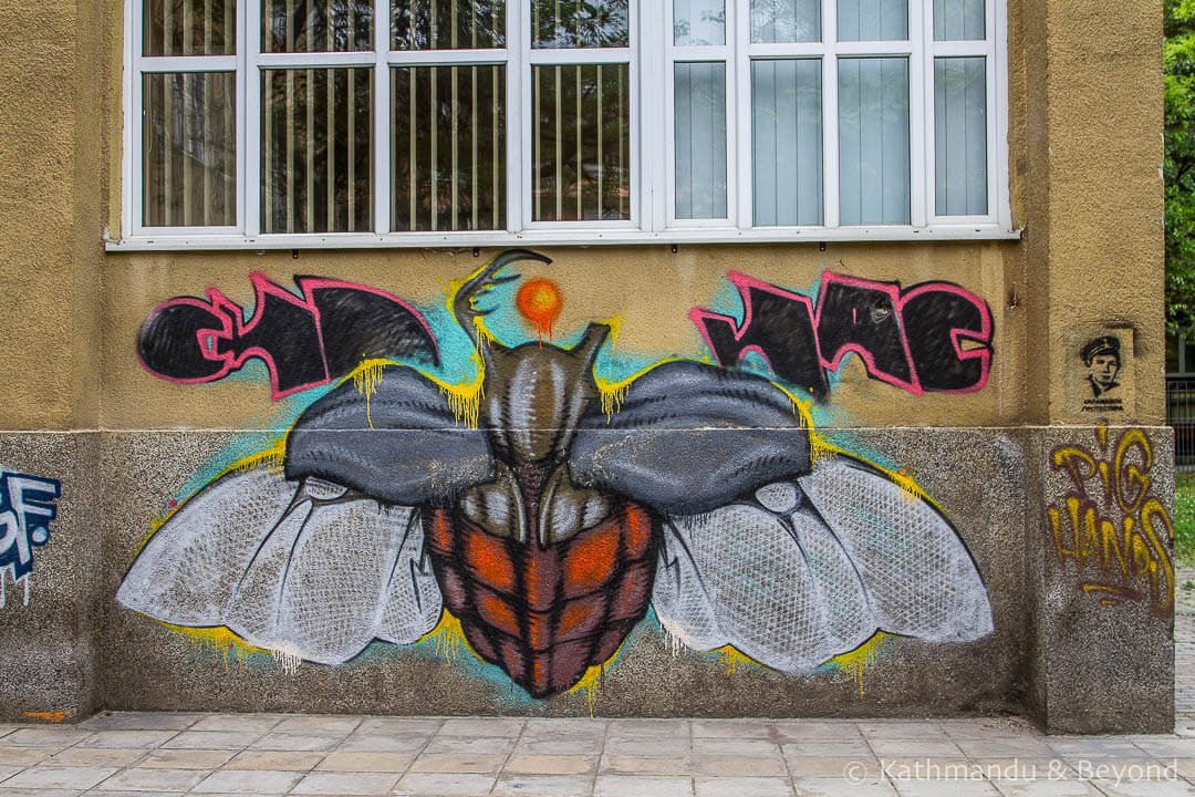 Faculty of Civil Engineering | Street Art in Skopje, Macedonia