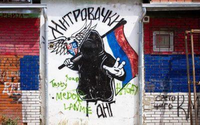 Street art in Mitrovica, Kosovo