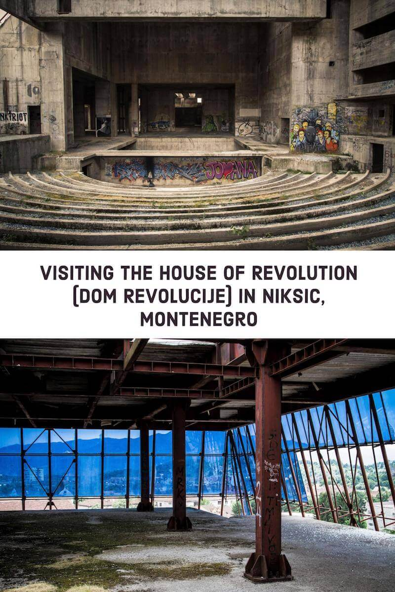 Visiting the House of Revolution (Dom Revolucije) in Niksic, Montenegro