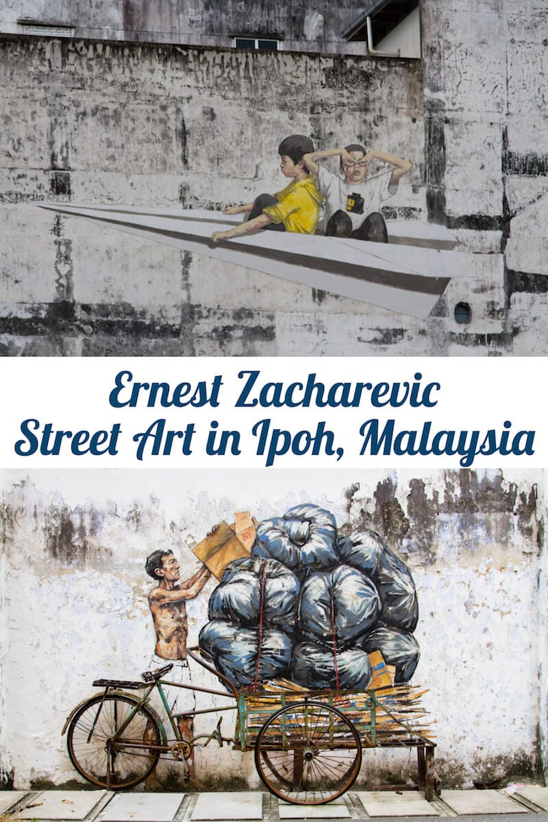 Ernest Zacharevi Street Art in Ipoh, Malaysia