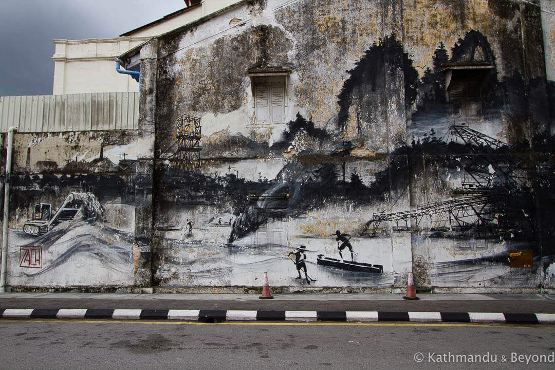 Evolution - Ernest Zacharevic Street Art in Ipoh, Malaysia