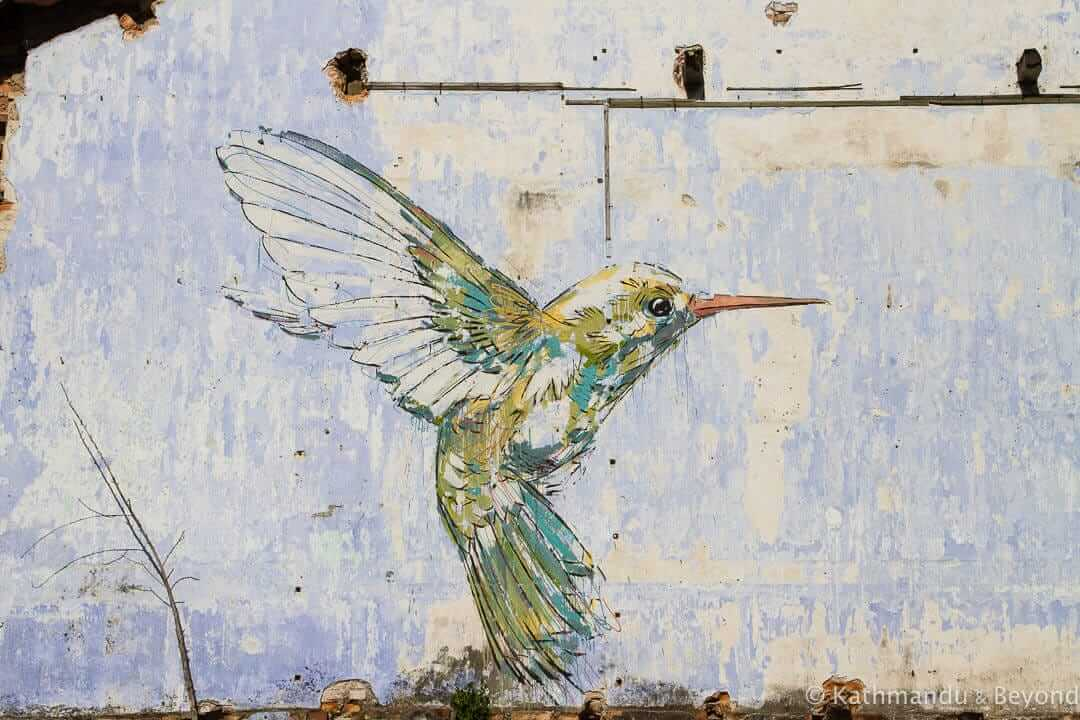 Humingbird - Ernest Zacharevic Street Art in Ipoh, Malaysia