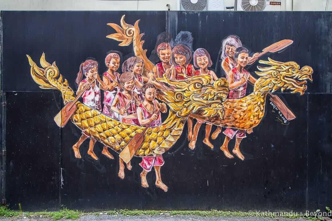 Mural Arts Lane @ Jalan Masjid - Street Art in Ipoh, Malaysia