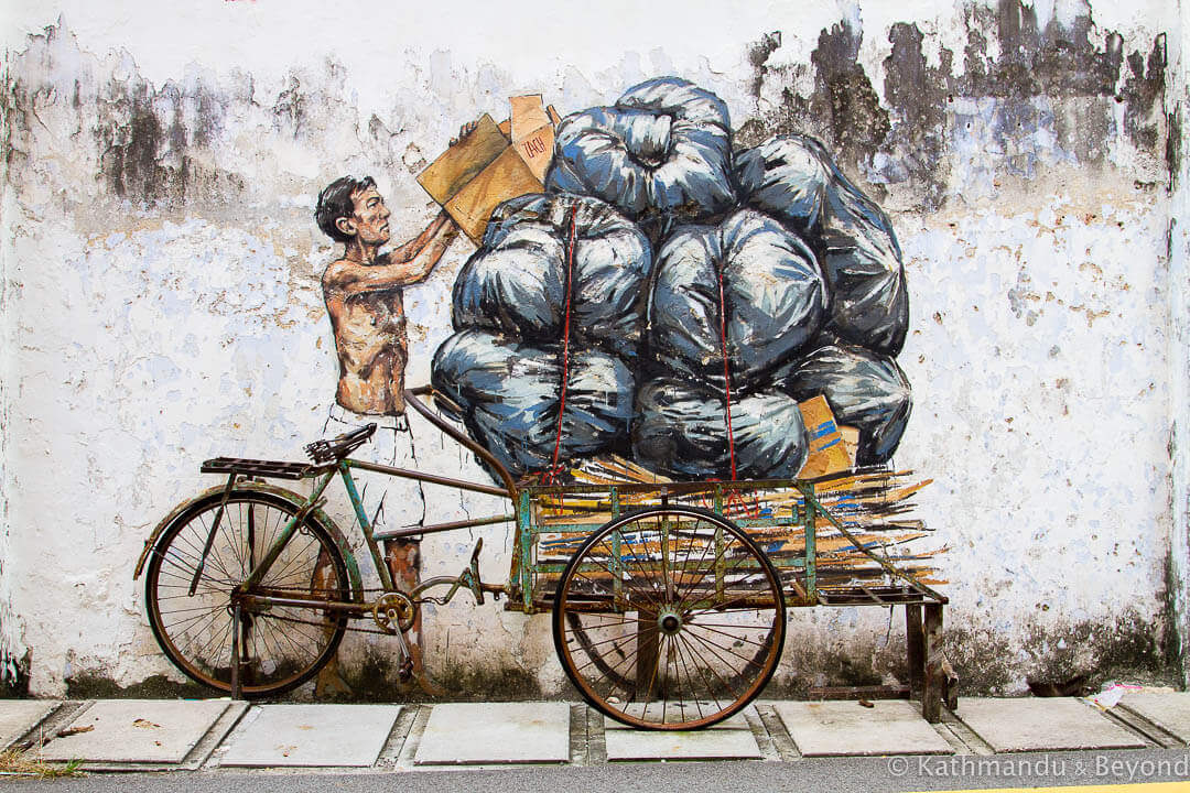 Trishaw - Ernest Zacharevic Street Art in Ipoh, Malaysia