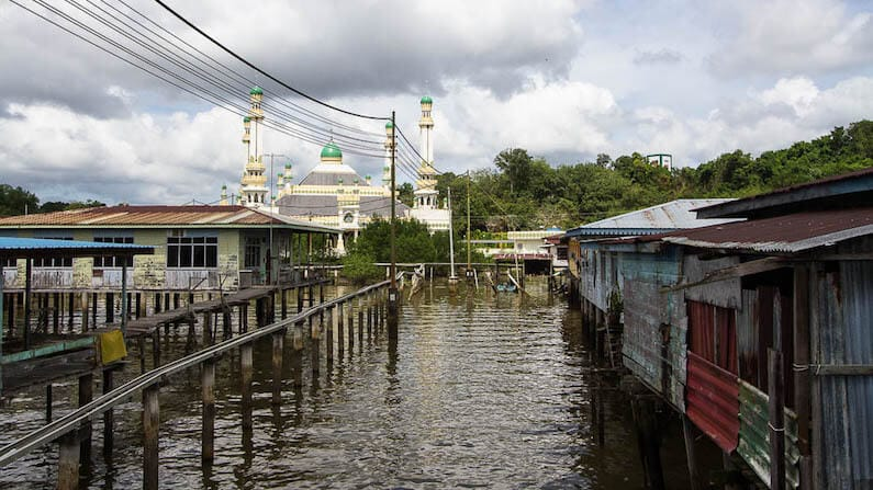 Visiting Kampong Ayer in Brunei