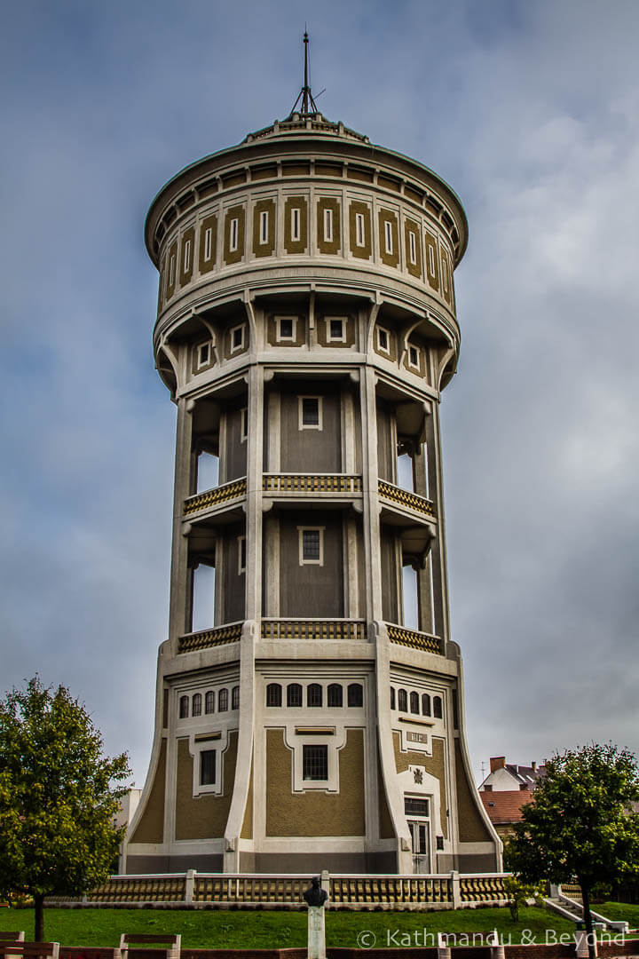 Water Tower Szent Istvan Square Szeged Hungary-1