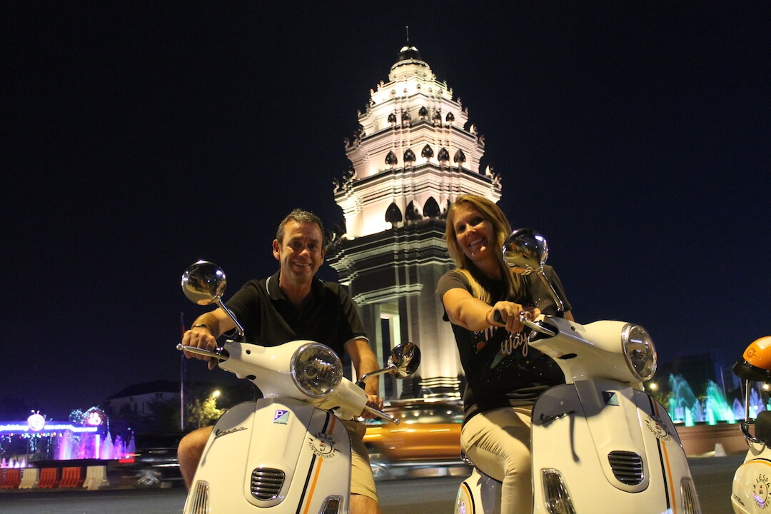 Phnom Penh Nightlife Experience with Vespa Adventures - Independence Monument