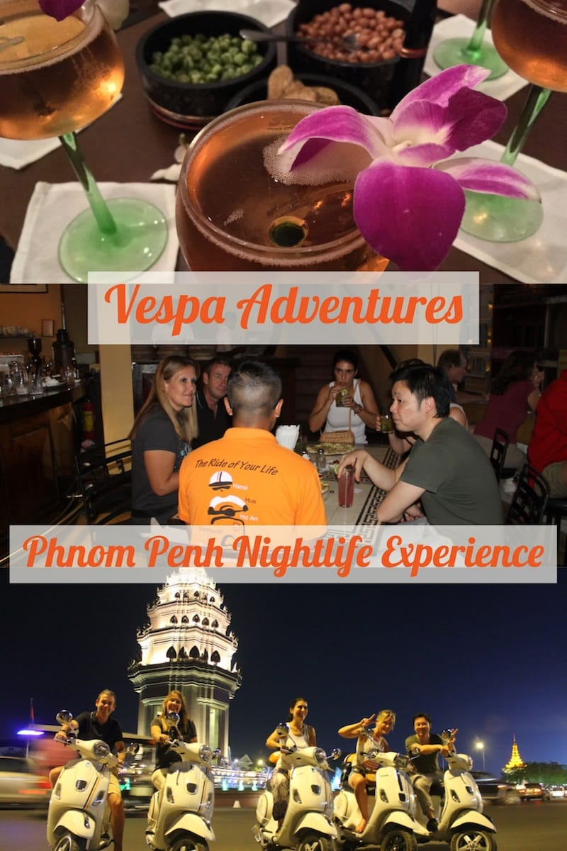 Vespa Adventures Phnom Penh After Dark tour
