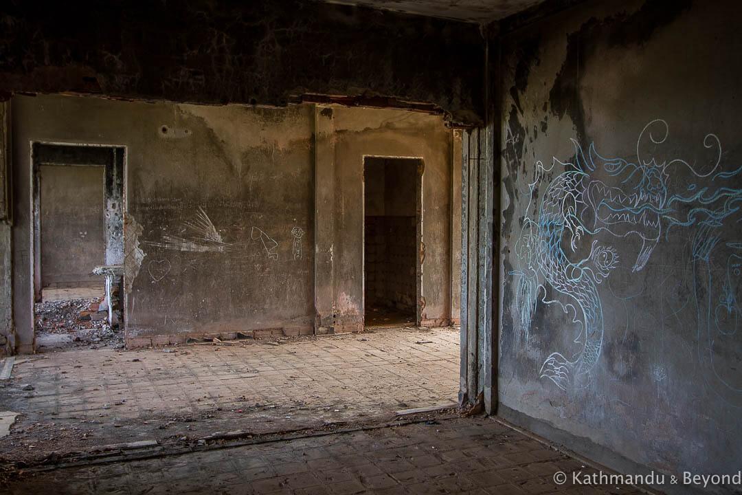 Former military housing Kompong Chhnang Cambodia-5