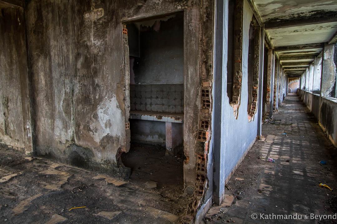 Former military housing Kompong Chhnang Cambodia-7