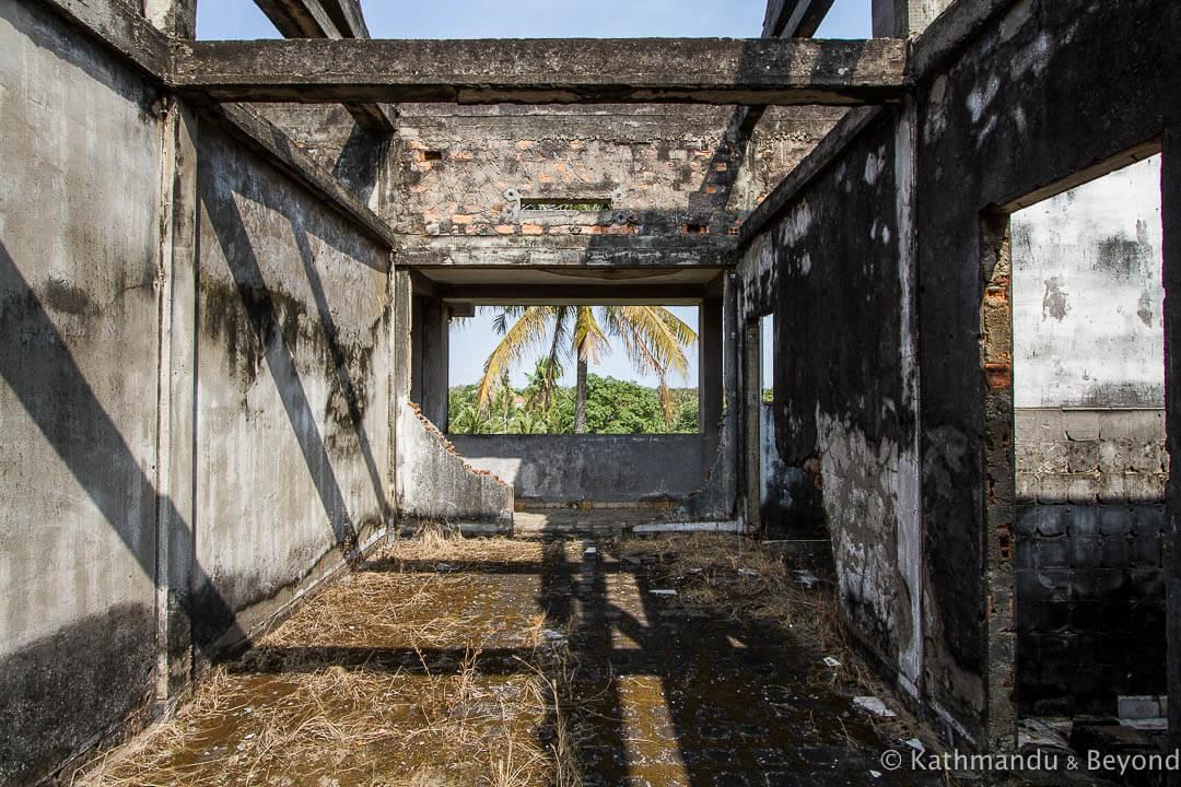 Former military housing Kompong Chhnang Cambodia-8