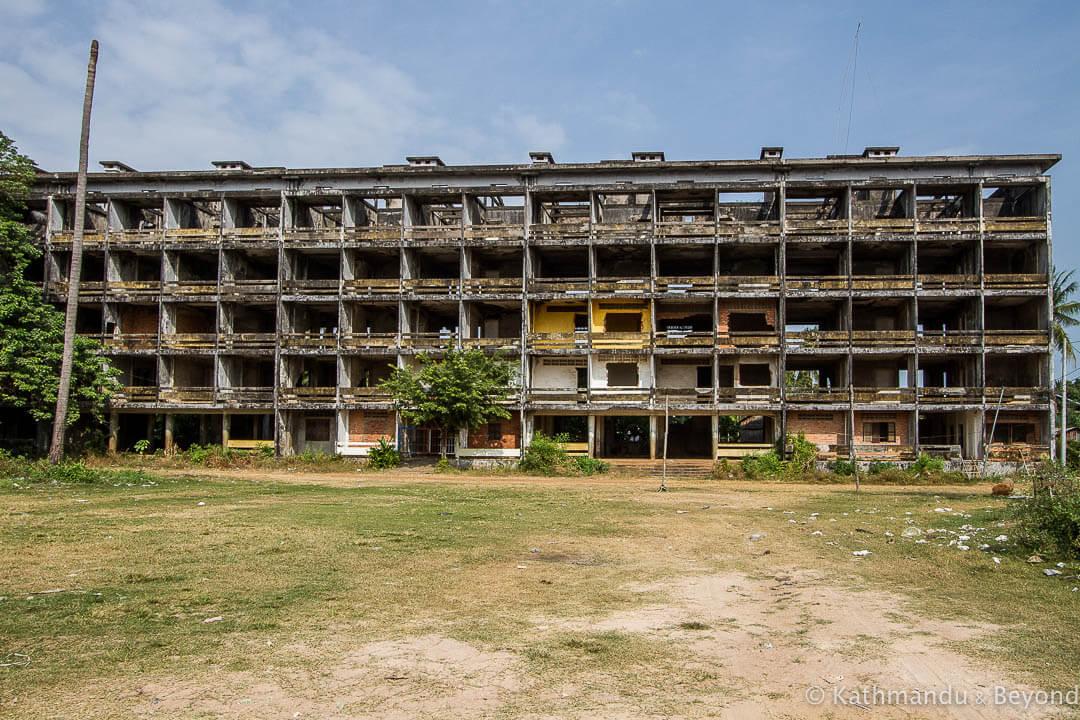 Former military housing Kompong Chhnang Cambodia