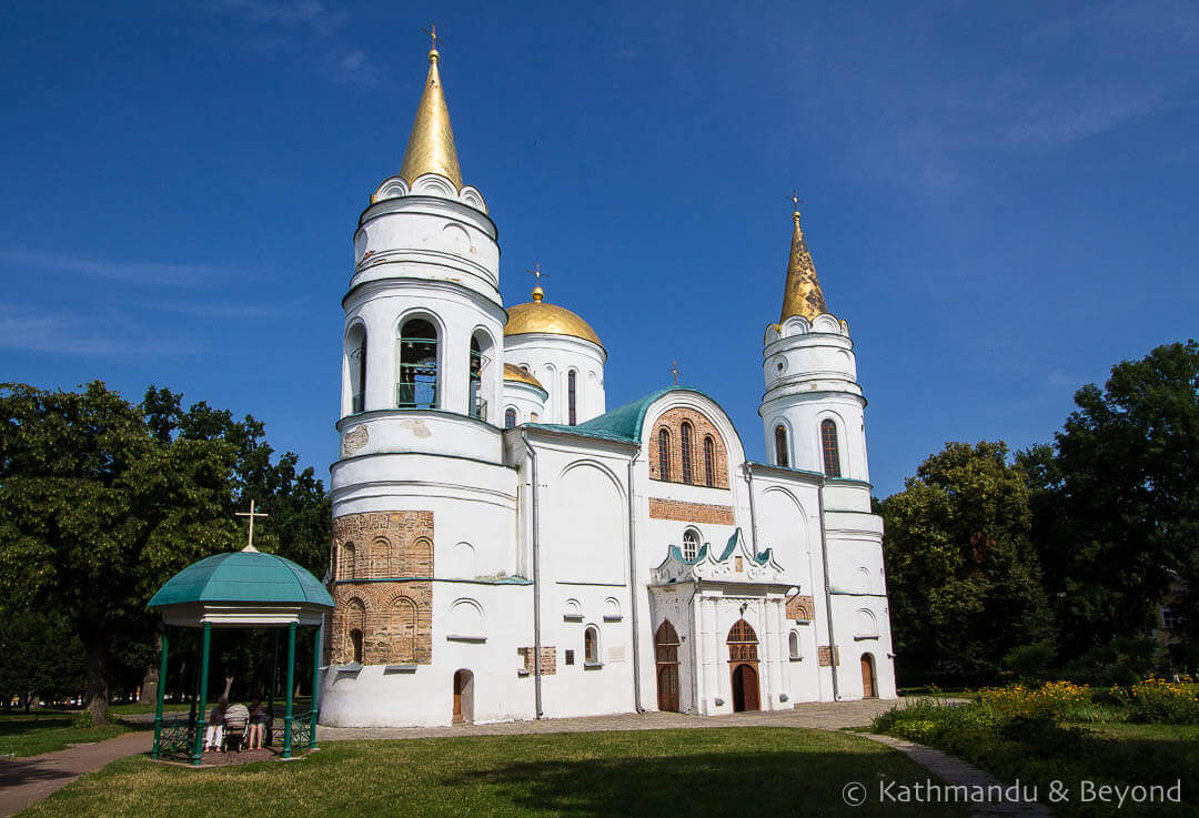 Things to see in Chernihiv - Spaso-Preobrazhensky Cathedral (The Saviour-Transfiguration Cathedral) Dytynets Chernihiv Ukraine