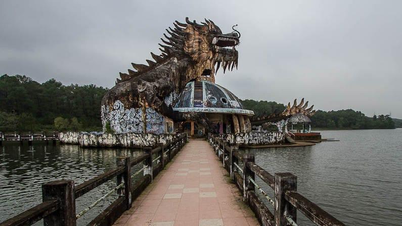 Abandoned Vietnam - Ho Thuy Tien Water Park in Hue, Vietnam