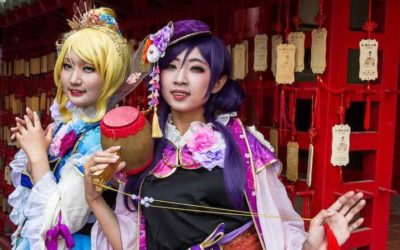 Cosplay Girls in the Taiwanese city of Tainan