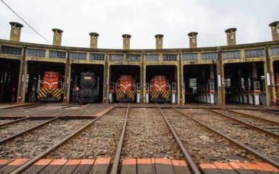 Fan-Shaped Train Garage in Changhua, Taiwan